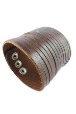 Best Rated Mulba Sl825 Men S Cuff Multilayer Leather Bracelet Brown Export