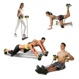 Best Offer Multi Function Core Abdominal Trainers Double Wheel Ab Roller Fitness Wheel Fitness Equipment