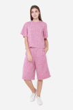 Muselabel Grainy Spongy Neck Casual Women Top Pink Review