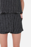 Muselabel Grainy Stripes Causal Everyday Edgy Women Fashion Shorts Black Shop