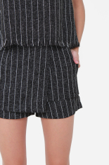 Where Can I Buy Muselabel Grainy Stripes Causal Everyday Edgy Women Fashion Shorts Black