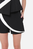 Buy Muselabel Pat Colour Block Overlay Casual Everyday Women Shorts Black Online