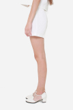 Sale Muselabel Square Textured Casual Everyday Women Shorts White Muselabel Cheap