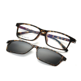 Myopia Polarized Sunglasses Men Brand Design Vintage Eyewear Frame Colorful Sunglasses Clip For Degree Of Glasses Shade 805 Leopard Frame Grey Clip Best Buy