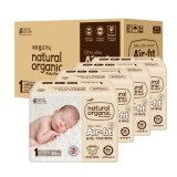 Latest Natural Organic Air Fit Ultra Slim Taped Diapers Newborn Up To 3Kg