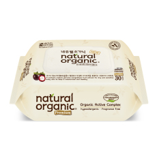 New Natural Organic Portable Premium Wipes With Cap 30 Sheets X 10 Packs