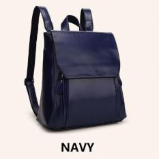 Discount Navy Mansur Gavriel Genuine Leather Backpack Martya Lady Handbag Shoulder Bag Singapore