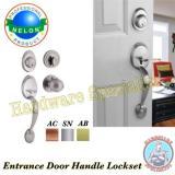 Shop For Nelon Door Entrance Handle Lockset 1219 Ab Brass