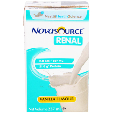 Discount Nestle Novasource Nutritional Liquid Meal Replacement For Renal Patients 237Ml Carton Of 24 Nestle On Singapore