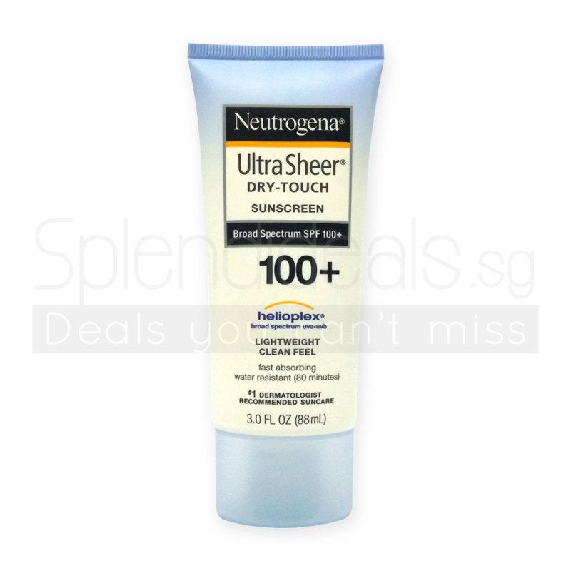 Buy Neutrogena Ultra Sheer Dry-Touch Sunscreen Broad Spectrum SPF 100+ 88ml - 3105 Singapore