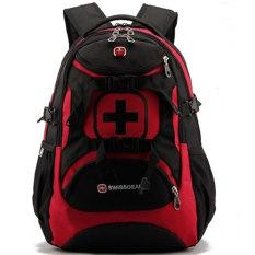 List Price New Brand Swissgear Waterproof Nylon15 Inches Laptop Swiss Men Backpack Computer Notebook Bag Red Intl Swissgear
