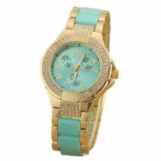 Low Cost New Model Diamond Bezel Quartz Steel Watch With Date Display Decorative Sub Dials