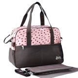 Low Cost New Multi Function Heart Printing Maternity Mommy Shoulder Bag Handbag With Diaper Pink Export Intl