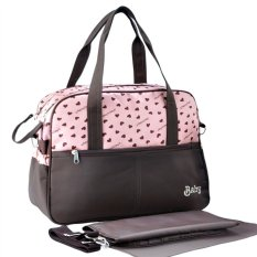 Price New Multi Function Heart Printing Maternity Mommy Shoulder Bag Handbag With Diaper Pink Export Intl Oem New
