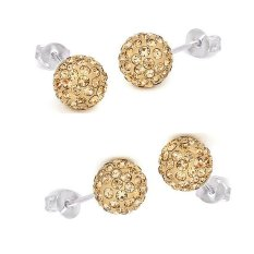 Sale New Rhinestone Crystal Popular G*rl Plated 925 Silver Earring Stud Earring Cool Online On China