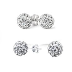 Price Comparison For New Rhinestone Crystal Popular G*rl Plated 925 Silver Earring Stud Earring Cool