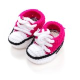 Newborn Baby Boys Girls Infant Crib Crochet Handmade Casual Socks Shoes Rose Promo Code