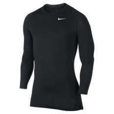Nike Pro Cool Compression Men's Long-Sleeve Shirt (Black)