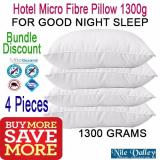 Buy Nile Valley 4 Pieces Hotel Micro Fibre Pillow 1300G Used In 5 Star Hotels Online Singapore