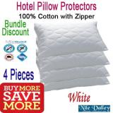 Low Cost Nile Valley Hotel Cotton Protector 4 Pieces Bundle Additional Discount