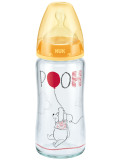 Nuk Premium Choice Winnie The Pooh Glass Bottle 240Ml Yellow Review