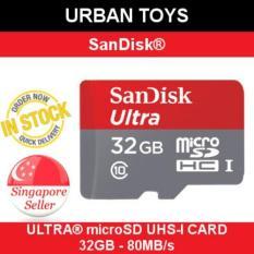 Low Price Original Sandisk Ultra Microsd 32Gb 80Mb S Singapore Seller Ready Stock