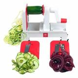 Shop For Paderno World Cuisine A4982802 Folding Tri Blade Spiralizer Red