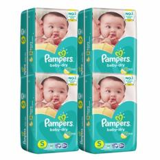 Pampers Baby Dry Diapers Small 58S X 4 232Pcs Local Stock Lower Price