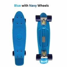 Buy Penny Style Board Skateboard 22 Inch Blue With Navy Wheels On Singapore