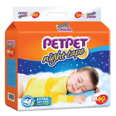 Petpet Night Tape Diapers Pack M60 X 3 Packs Price Comparison
