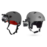 Coupon Progear Helmet Mount Kit Front And Side For Gopro Hero 4 3 3 2 1 Accessories Sj4000 Sj5000 Xiaomi Xiaoyi Cameras