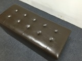 Get Cheap Pu Leather Cushion Ottoman Storage Stool Seat Box Bench Medium Brown
