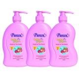 Pureen Baby Yogurt Head To Toe Wash Peach And Cherry Flavour 750Ml X 3 Bottles Online