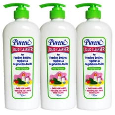 Buy Pureen Liquid Cleanser No Flavour 750Ml X 3 Bottles On Singapore