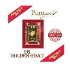 Sale Puregold 2G Golden Goat Gold Bar 999 9 Puregold Cheap