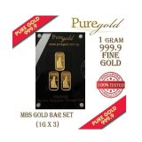 Puregold Singapore Marina Bay Sands Gold Bar 1G Set Of 3 Lower Price