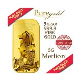 Buy Puregold Singapore 5G Merlion Sea Gold Bar 999 9 On Singapore