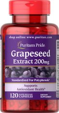 Puritans Pride Grapeseed Extract 200 Mg / 120 Capsules / Item 019465 By Jawstore Pte Ltd.