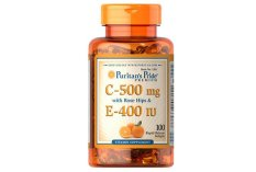 For Sale Puritan S Pride Vitamin C E 500 Mg 400 Iu With Rose Hips 100 Softgels