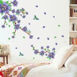 Who Sells The Cheapest Purple Flowers Green Leaves Wall Sticker Decal Pvc Mural Art Home House Picture Room Paper For Adults Kids Babies Export Online