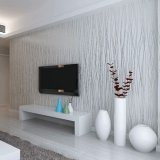 Get Cheap Pvc Popular Modern Lines Flocking Non Woven Embossed Textured Wallpaper Roll Silver