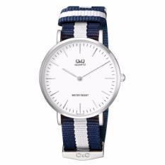 Sale Q Q Q974J331Y By Citizen White Dial Blue White Nylon Analog Classic Watch Q Q Cheap