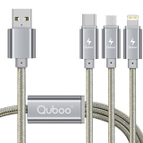 Quboo 1 2M 3 In1 Data Cable For Android Iphone6S 5S Type C Grey Intl Review
