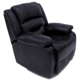 Blmg Recliner Sofa Black 1P Free Delivery For Sale Online