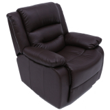 Buy Recliner Sofa Brown 1P Free Delivery