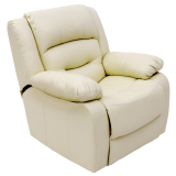 Discount Blmg Recliner Sofa Ivory 1P Free Delivery