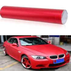 Buy Red 12 X60 Sheet Roll Satin Semi Vinyl Wrap Skin Car Sticker Decal Film Online China