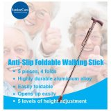 Price Reinforced Anti Slip Foldable Adjustable Height Walking Stick Online Singapore