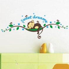 Removable Screnery Light Art Monkey Sweet Dream Living Room Decal Decor Wall Sticker White Free Shipping