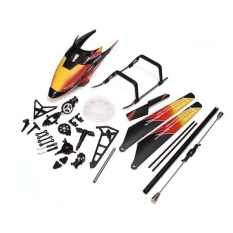 Compare Prices For Replacement Wltoys V913 2 4Ghz 4Ch Rc Helicopter Spare Parts Accessories Kit Set Canopy Blades Landing Skid Gear Orange